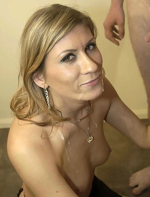 Cum on Mature Face Porn Pictures